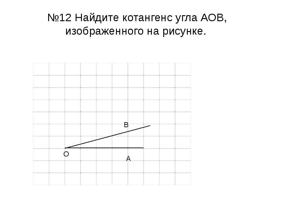Найдите котангенс угла АОВ, изображенного на рисунке. О В А