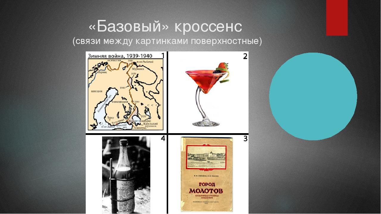 «Базовый» кроссенс (связи между картинками поверхностные)