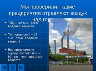 Мы проверили: какие предприятия отравляют воздух над городом ТЭЦ - 32 тыс. то