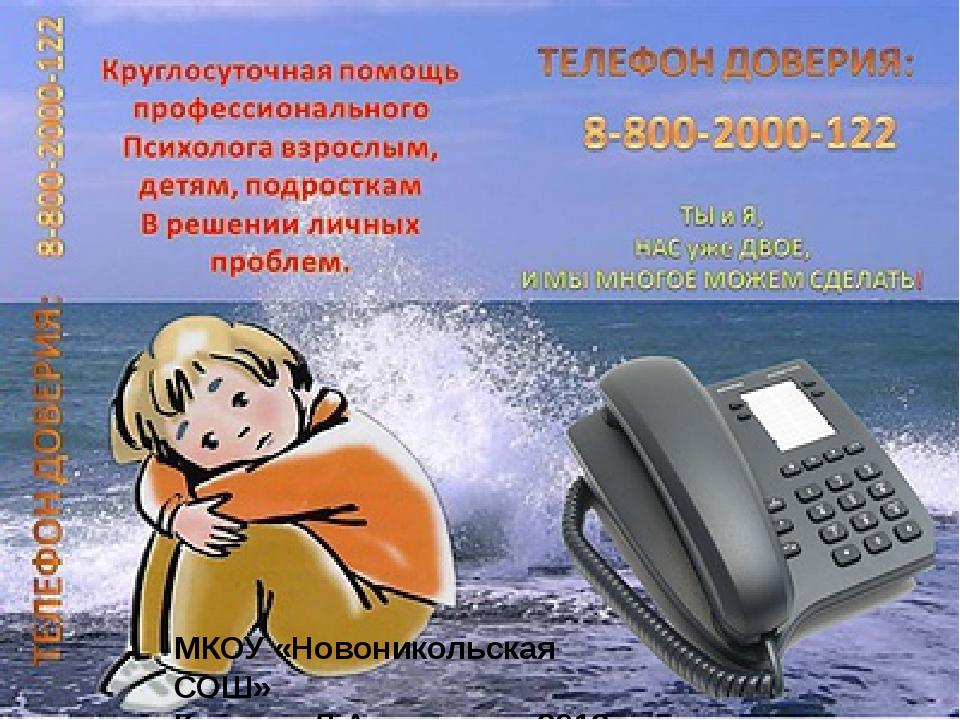 МКОУ «Новоникольская СОШ» Кочкина Л.А 2012г