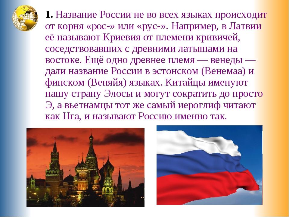Рассказ о россии по картинками