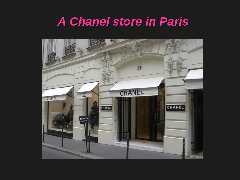 A Chanel store in Paris