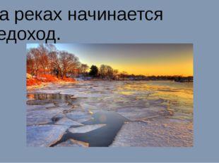 На реках начинается ледоход.