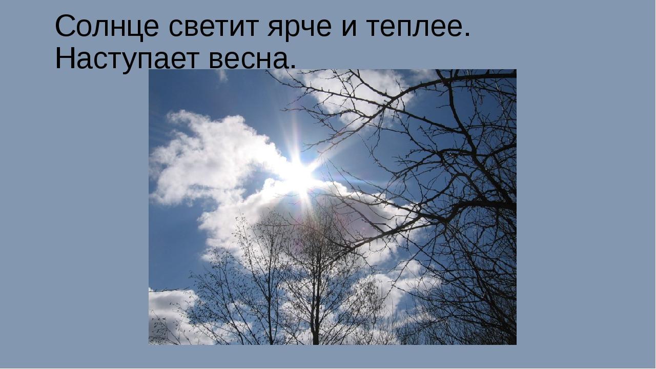 Солнце светит ярче и теплее. Наступает весна.