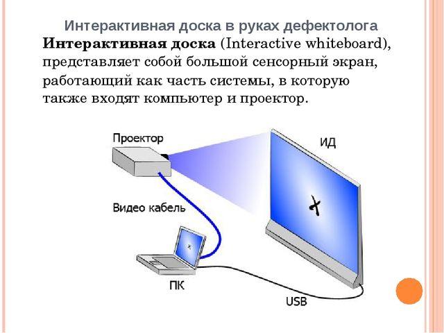 Интерактивная доска в руках дефектолога Интерактивная доска (Interactive whit...