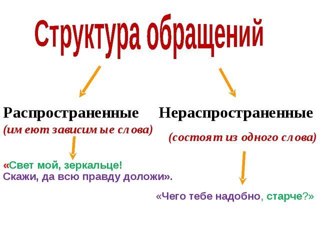 Распространенные (имеют зависимые слова) Нераспространенные (состоят из одног...