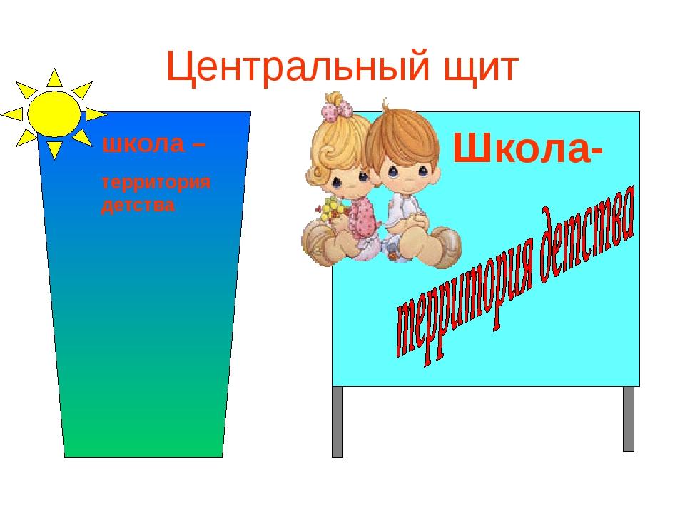 Центральный щит школа – территория детства Школа-