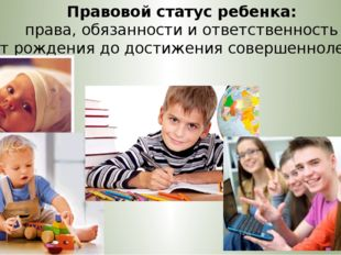 Правовой статус ребенка: права, обязанности и ответственность от рождения до