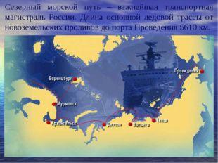 Северный морской путь – важнейшая транспортная магистраль России. Длина основ