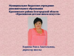 Муниципальное бюджетное учреждение дополнительного образования Красненского р