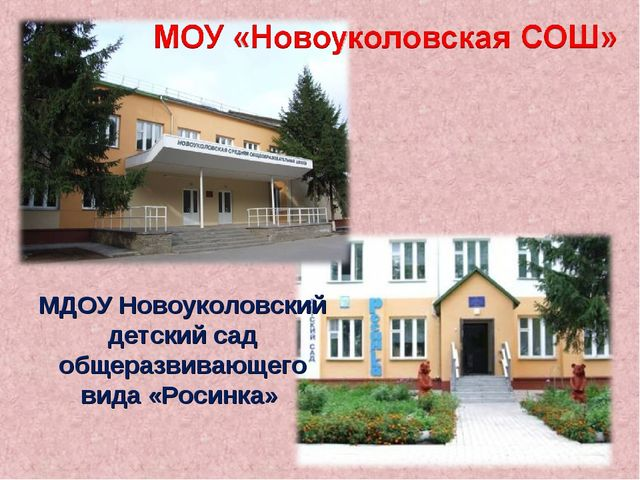 МДОУ Новоуколовский детский сад общеразвивающего вида «Росинка»