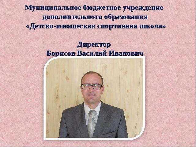 Муниципальное бюджетное учреждение дополнительного образования «Детско-юношес...