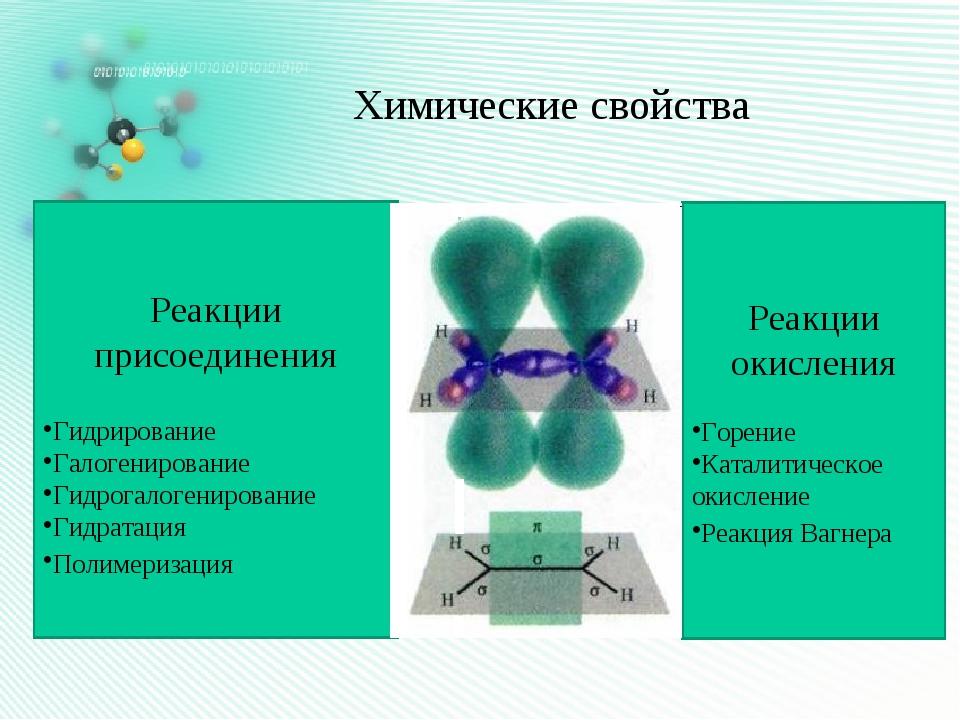 Химические свойства Реакции присоединения Гидрирование Галогенирование Гидрог...