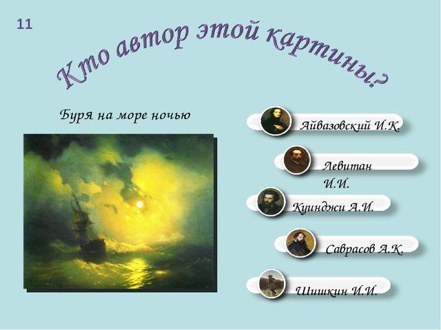 Буря на море ночью 11