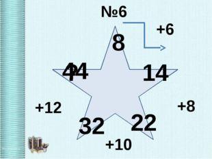 №6 8 14 22 32 ? 44 +6 +8 +10 +12