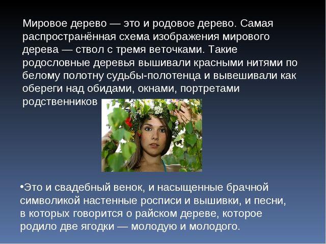Мировое дерево — это и родовое дерево. Самая распространённая схема изображен...