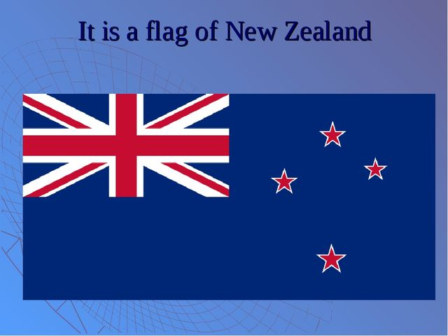 It is a flag of New Zealand