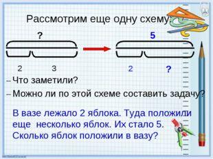 Рассмотрим еще одну схему: – Что заметили? – Можно ли по этой схеме составить