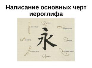 Написание основных черт иероглифа