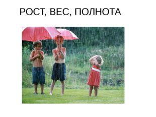 РОСТ, ВЕС, ПОЛНОТА