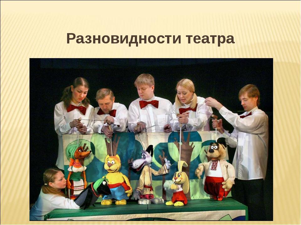 Разновидности театра 1. Теа́тр кукол