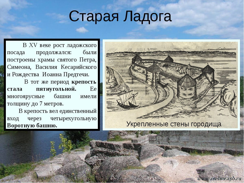 Старая Ладога В XV веке рост ладожского посада продолжался: были построены х...