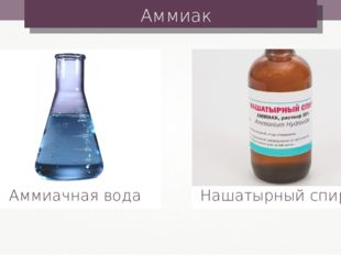 Аммиак Аммиачная вода Нашатырный спирт
