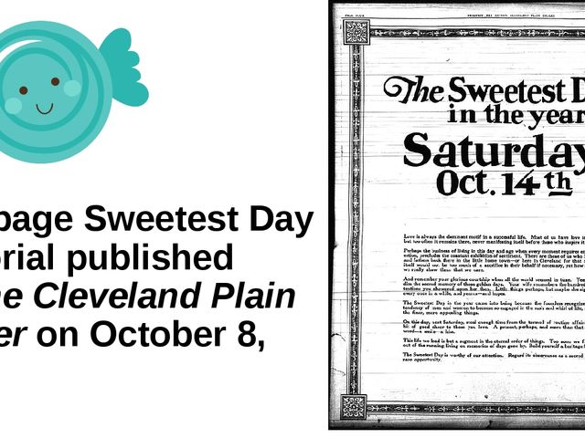 Full page Sweetest Day editorial published in The Cleveland Plain Dealer on O...