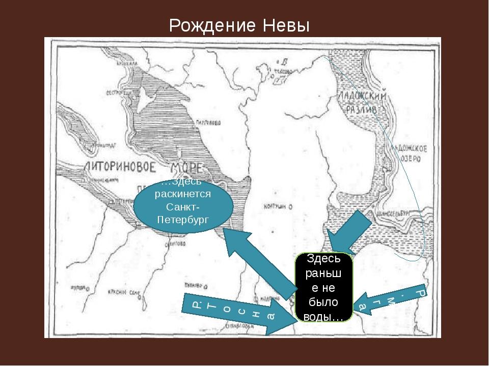 …Здесь раскинется Санкт-Петербург… Р.мга Р.Тосна Здесь раньше не было воды…...
