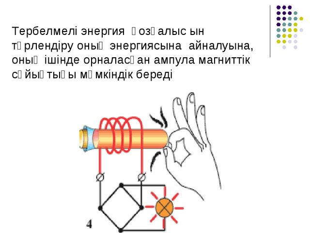 Тербелмелі энергия қозғалыс ын түрлендіру оның энергиясына айналуына, оның іш...