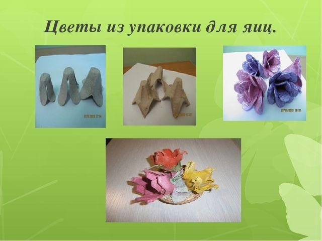 Цветы из упаковки для яиц.
