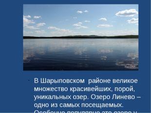 В Шарыповском районе великое множество красивейших, порой, уникальных озер.