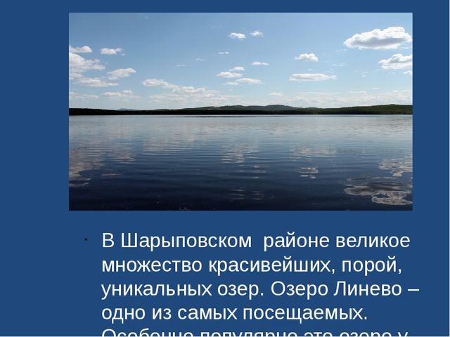 В Шарыповском районе великое множество красивейших, порой, уникальных озер....