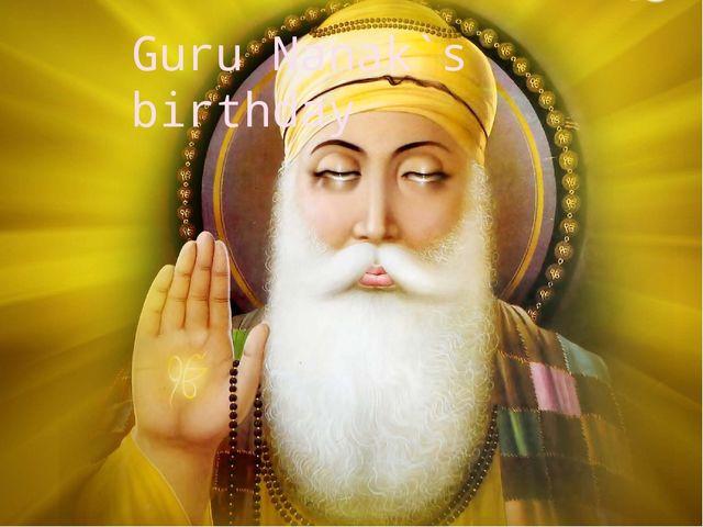 Guru Nanak`s birthday