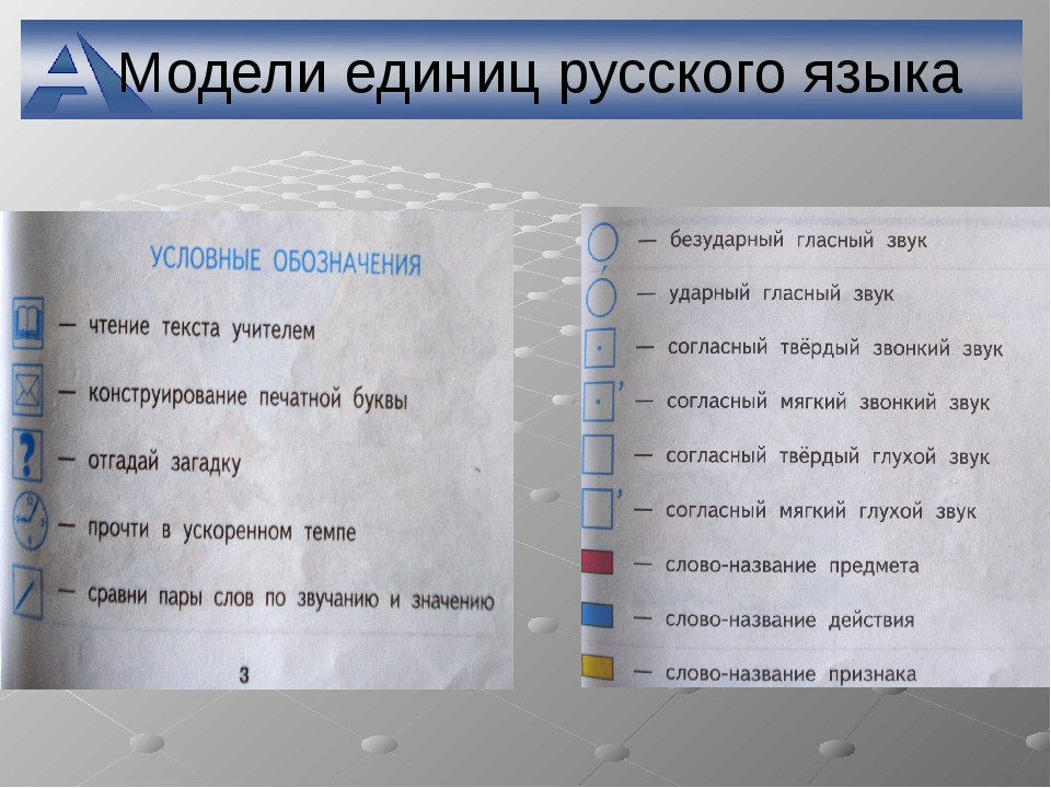 Модели единиц русского языка