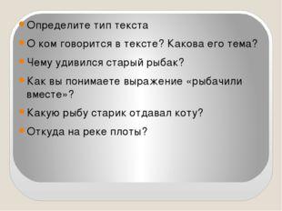 Определите тип текста О ком говорится в тексте? Какова его тема? Чему удивил