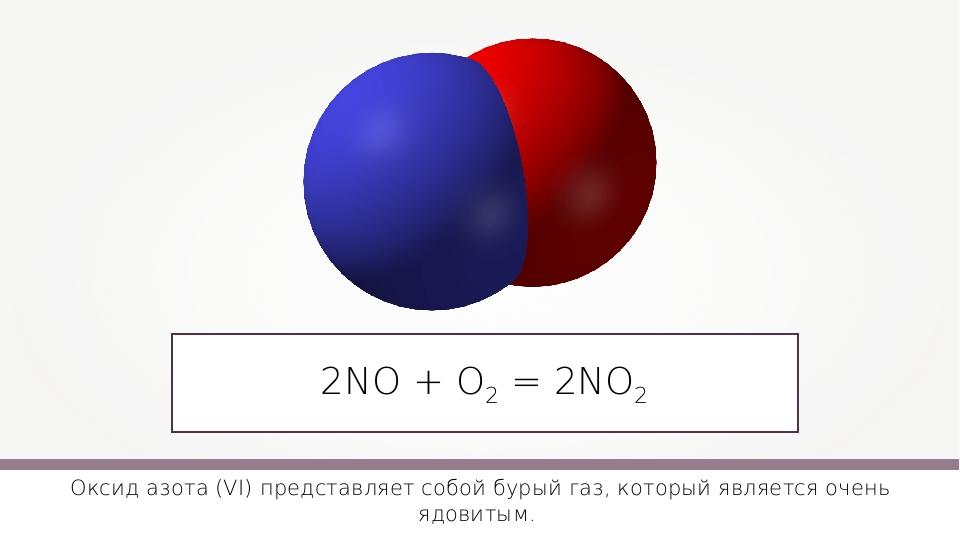 2NO + О2 = 2NO2