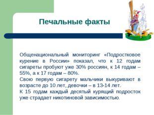 Общенациональный мониторинг «Подростковое курение в России» показал, что к 12
