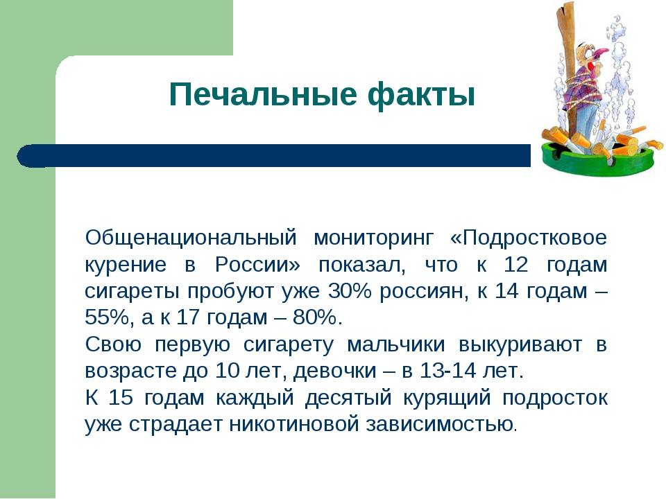 Общенациональный мониторинг «Подростковое курение в России» показал, что к 12...
