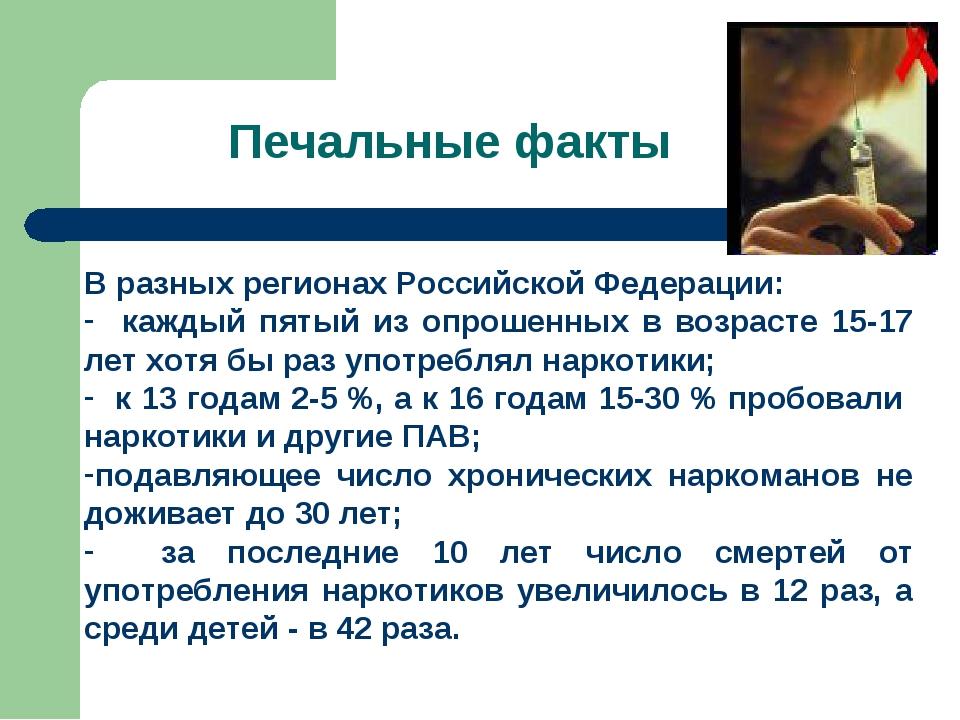 Печальные факты В разных регионах Российской Федерации: каждый пятый из опрош...