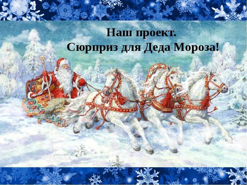 Наш проект. Сюрприз для Деда Мороза!