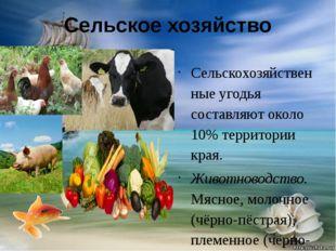 Сельское хозяйство Сельскохозяйственные угодья составляют около 10% территори