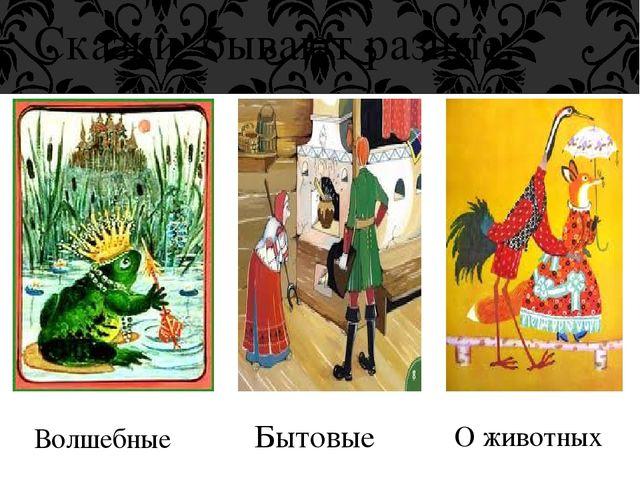 Сказки бывают разные: Волшебные Бытовые О животных