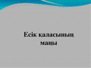 Есік қаласының маңы