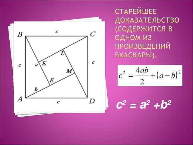 с2 = a2 +b2
