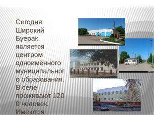 Сегодня Широкий Буерак является центром одноимённого муниципального образова