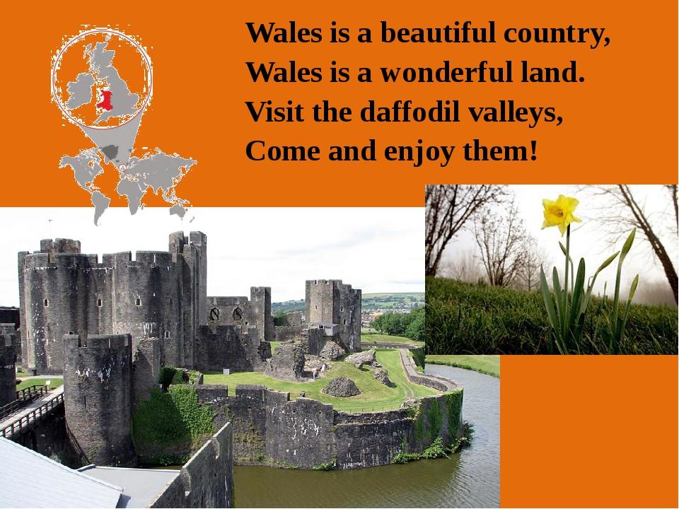 Anthem: Hen Wlad Fy Nhadau (Land of my Fathers ) Motto: Cymru am byth (Wales...