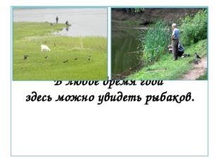 В любое время года здесь можно увидеть рыбаков.