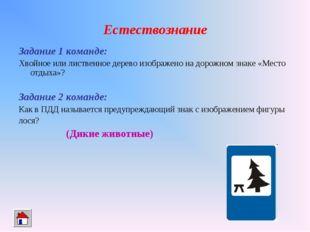 Естествознание Задание 1 команде: Хвойное или лиственное дерево изображено на