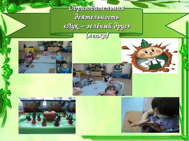 Образовательная деятельность «Лук – зелёный друг» (лепка)